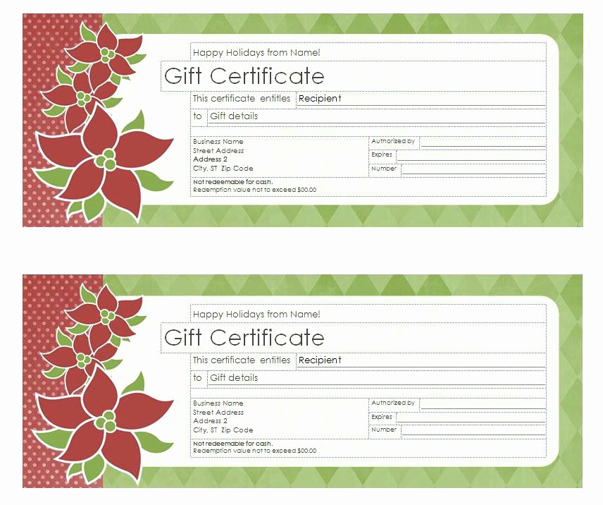 Free Massage Gift Certificate Template Best Of Birthday Gift Certificate Template Free Printable Blank