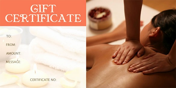 Free Massage Gift Certificate Template Best Of Gift Certificate Template – 34 Free Word Outlook Pdf