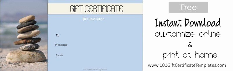 Free Massage Gift Certificate Template Best Of Spa Gift Certificates