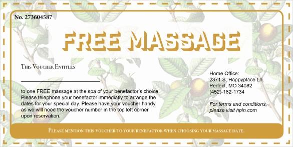 Free Massage Gift Certificate Template Fresh 19 Massage Voucher Templates Psd Ai Word