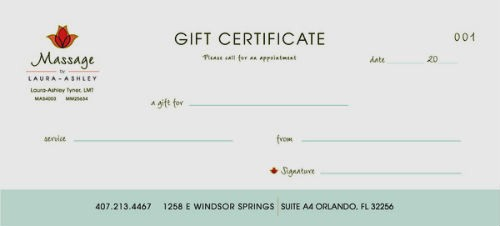 Free Massage Gift Certificate Template Fresh Free Printable Gift Certificate Templates for Massage