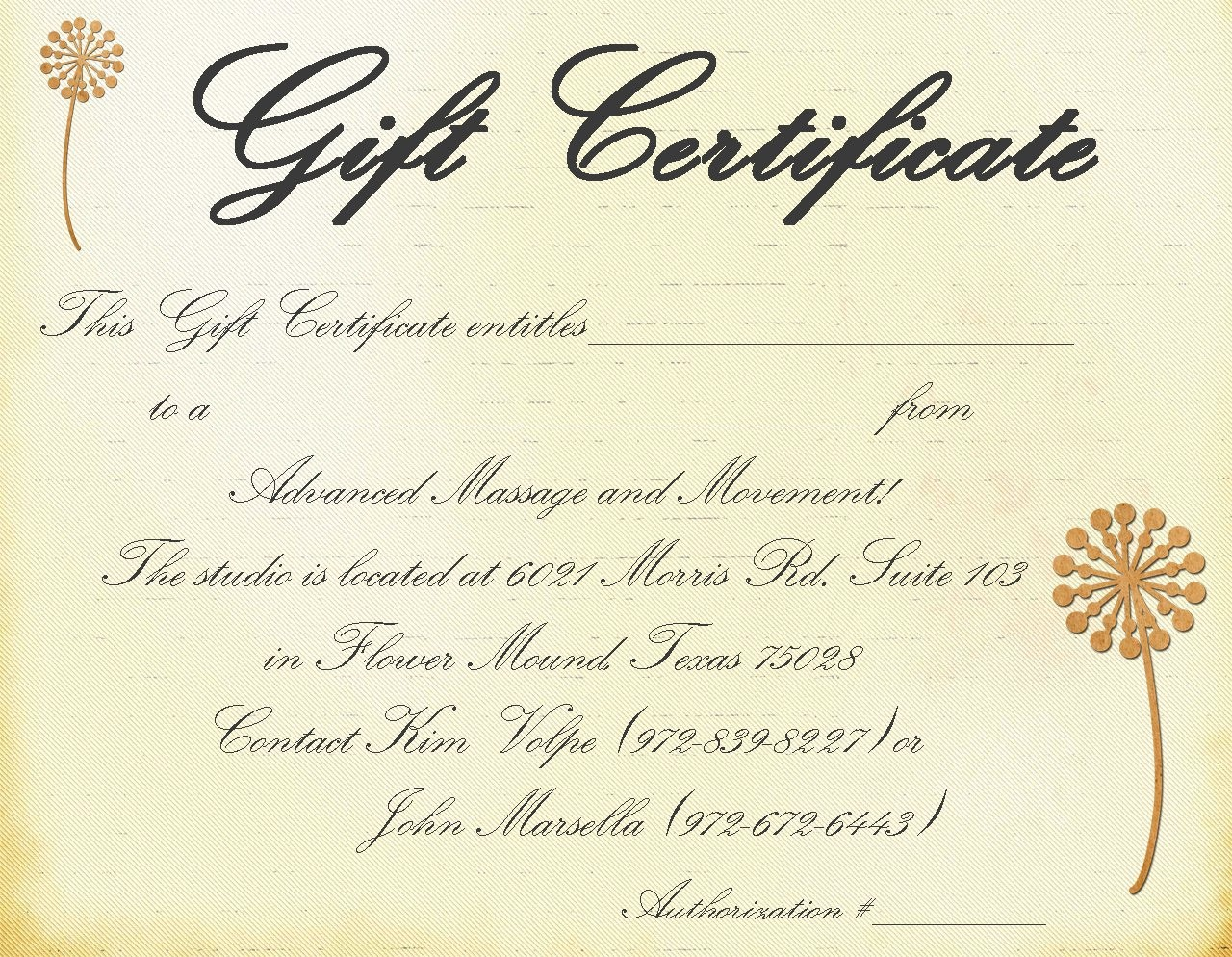 Free Massage Gift Certificate Template Inspirational Massage Gift Certificate Templates