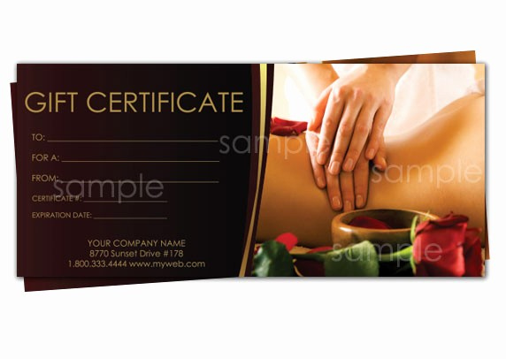 Free Massage Gift Certificate Template Lovely Print Your Own Gift Certificates Using Easy Templates