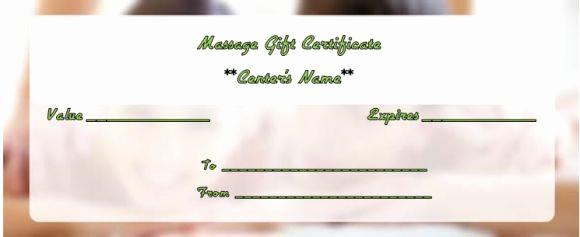 Free Massage Gift Certificate Template Luxury Massage Gift Certificate Template 14 Free Printable