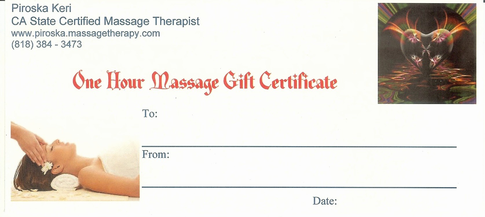 Free Massage Gift Certificate Template New Buynow Paypal Credit Card