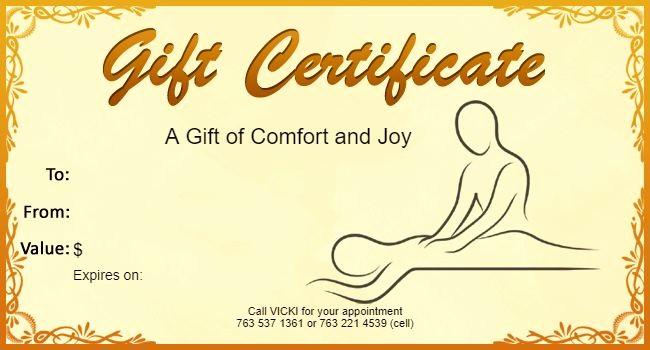 Free Massage Gift Certificate Template Unique 25 Unique Gift Certificate Templates Ideas On Pinterest