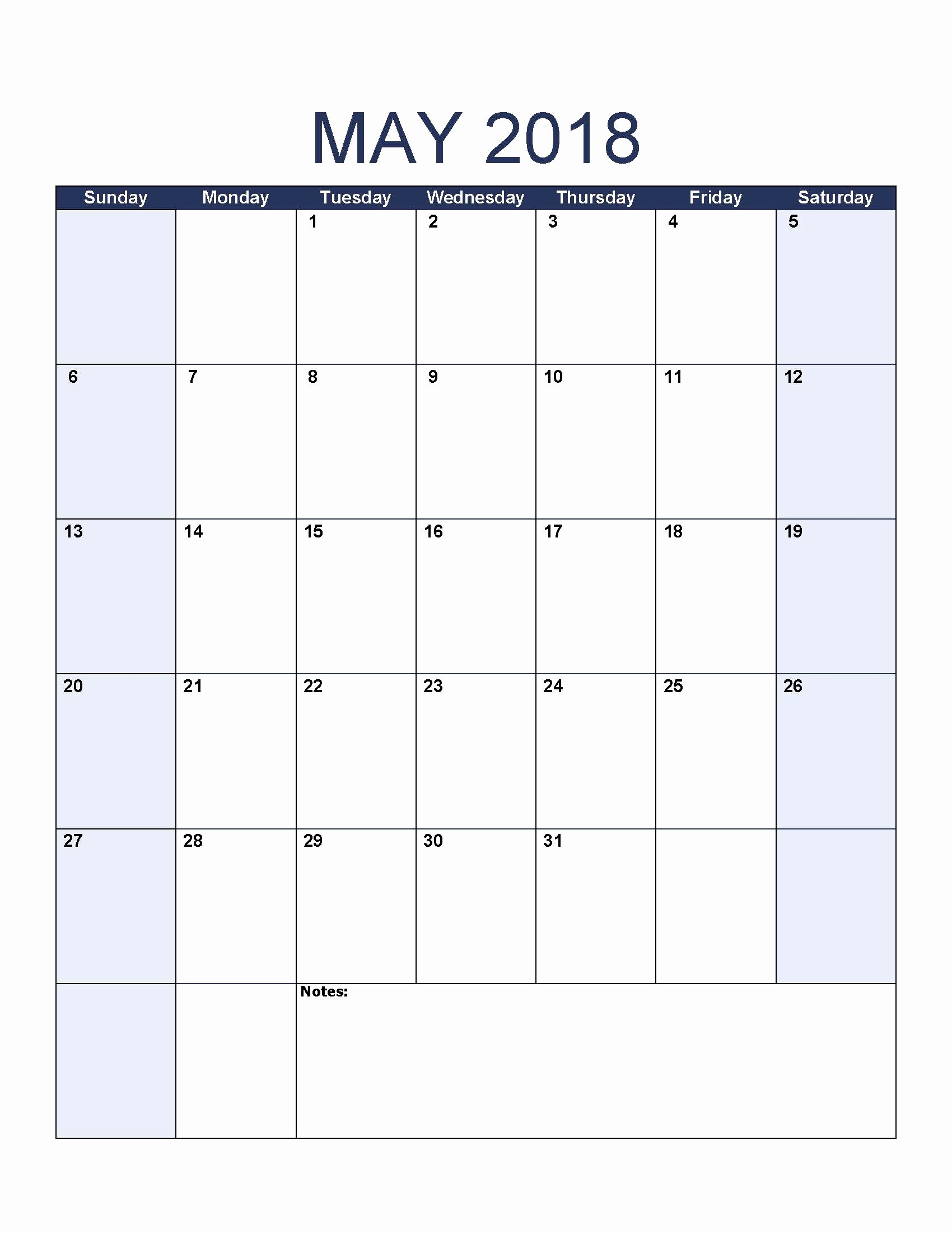 Free May 2018 Calendar Template Awesome May 2018 Calendar Template