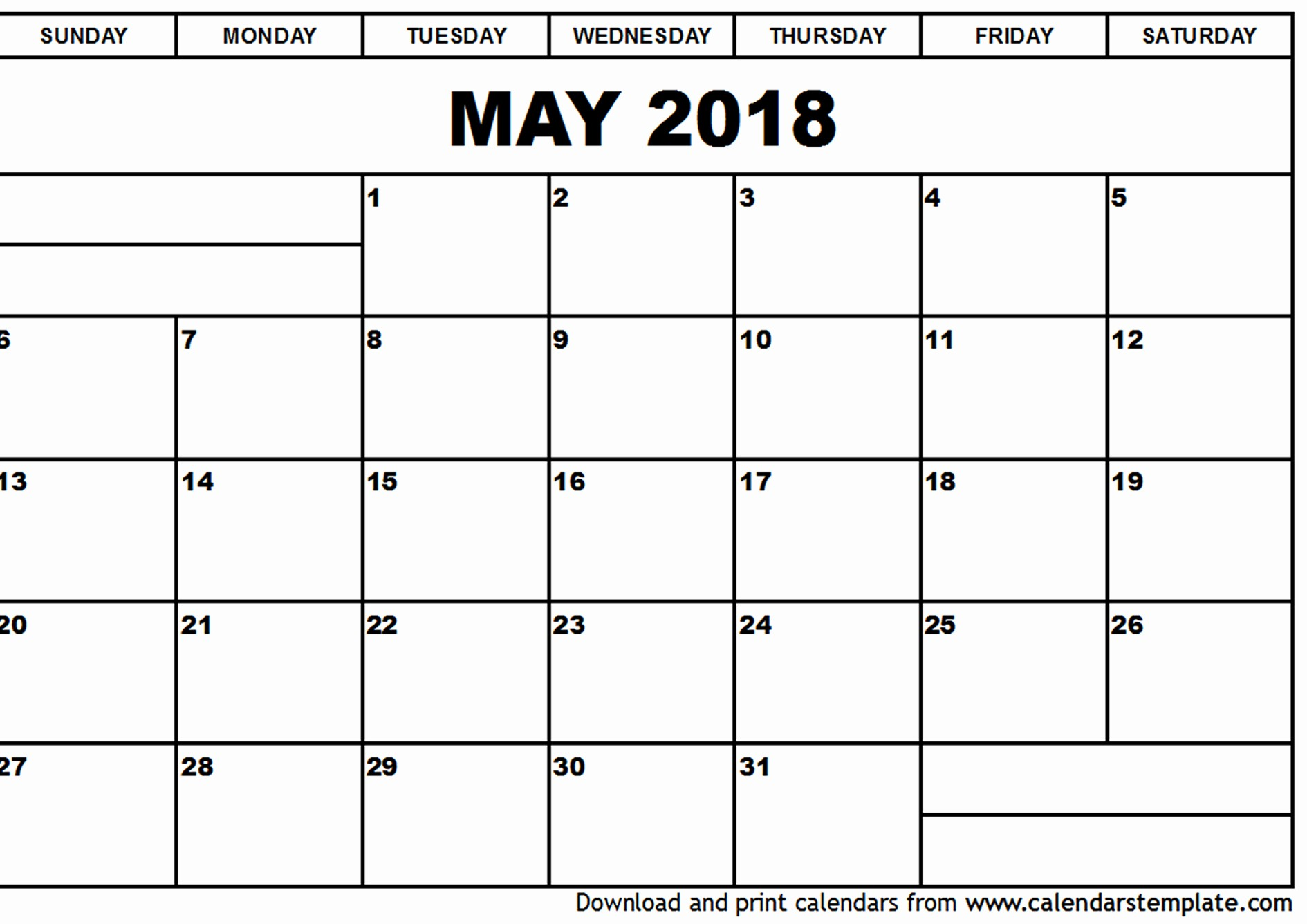 Free May 2018 Calendar Template Beautiful May 2018 Calendar Template