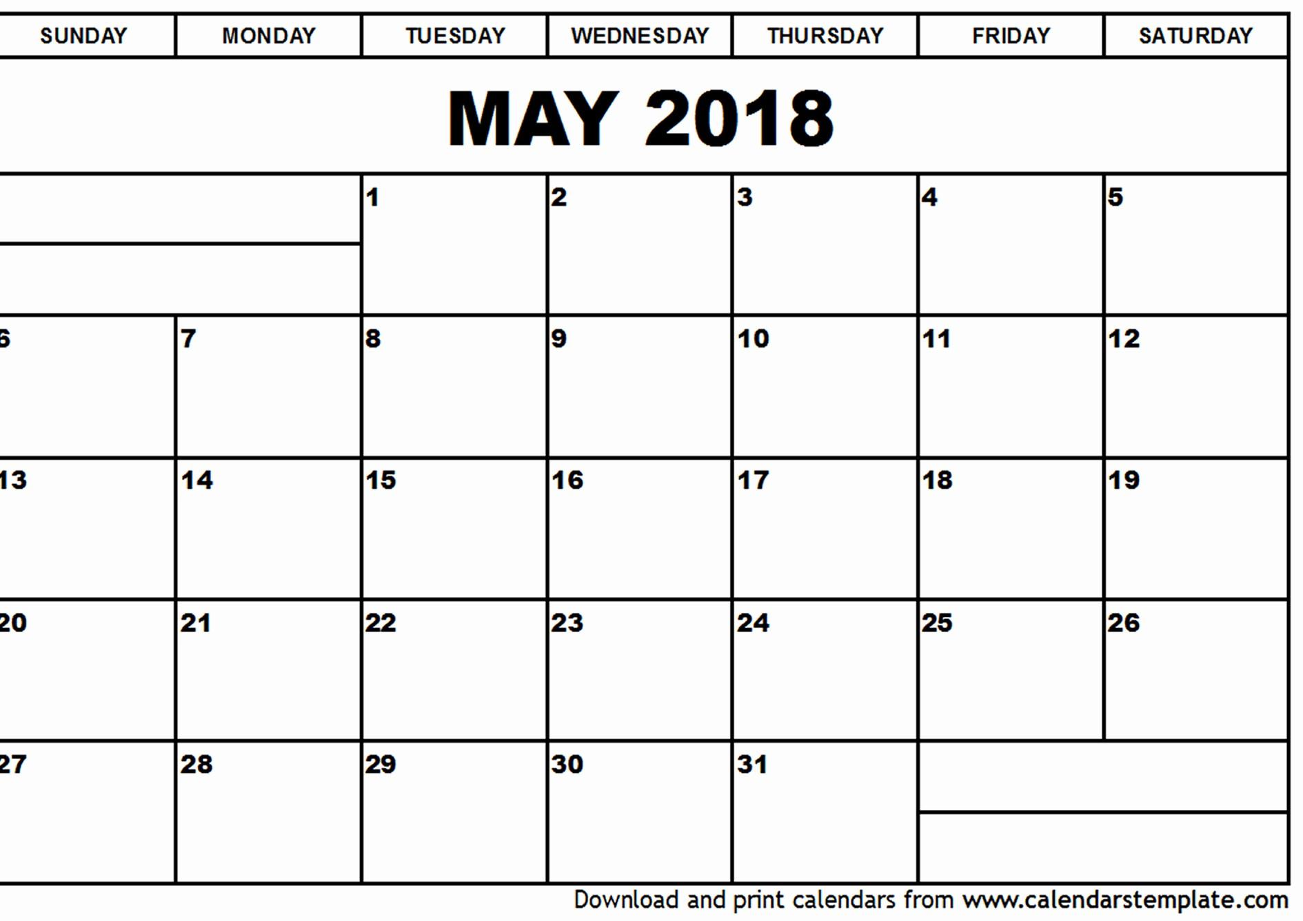 Free May 2018 Calendar Template Beautiful May 2018 Calendar Template