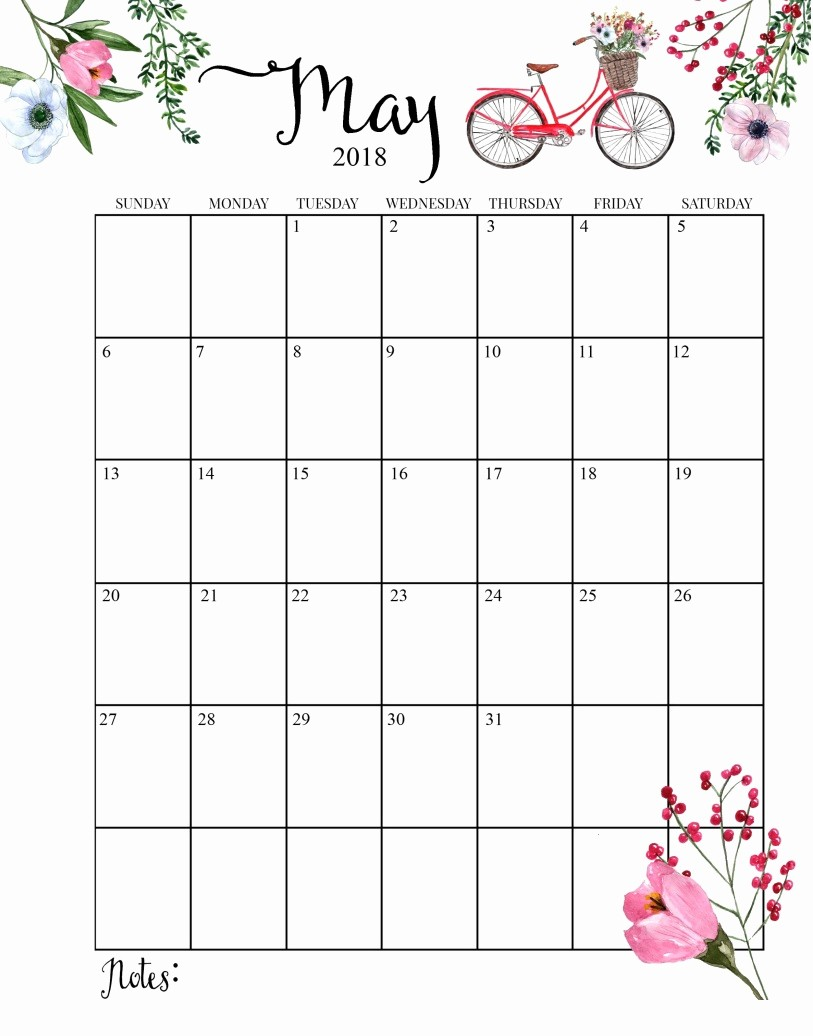 Free May 2018 Calendar Template Best Of Month to Month Printable Calendar 2018