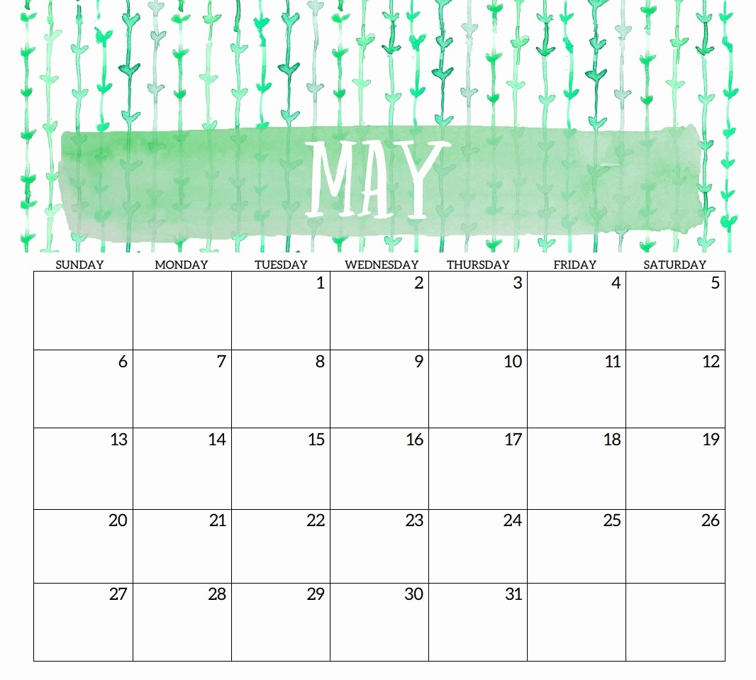 Free May 2018 Calendar Template Fresh 2018 Monthly Printable Templates