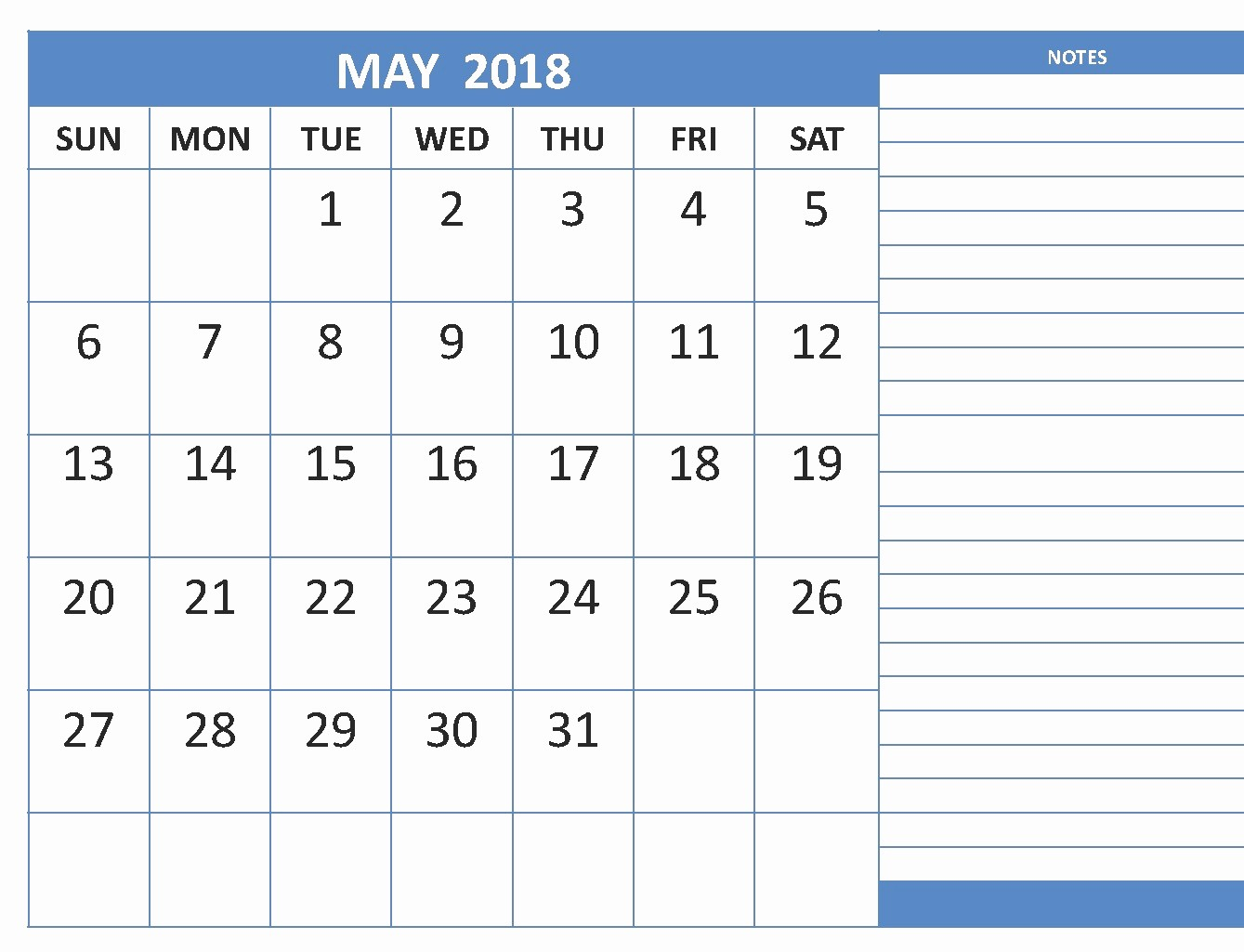 Free May 2018 Calendar Template Lovely Editable May 2018 Calendar