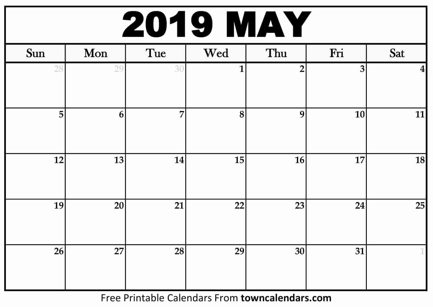 Free May 2018 Calendar Template Lovely Free 5 May 2018 Calendar Printable Template Pdf source