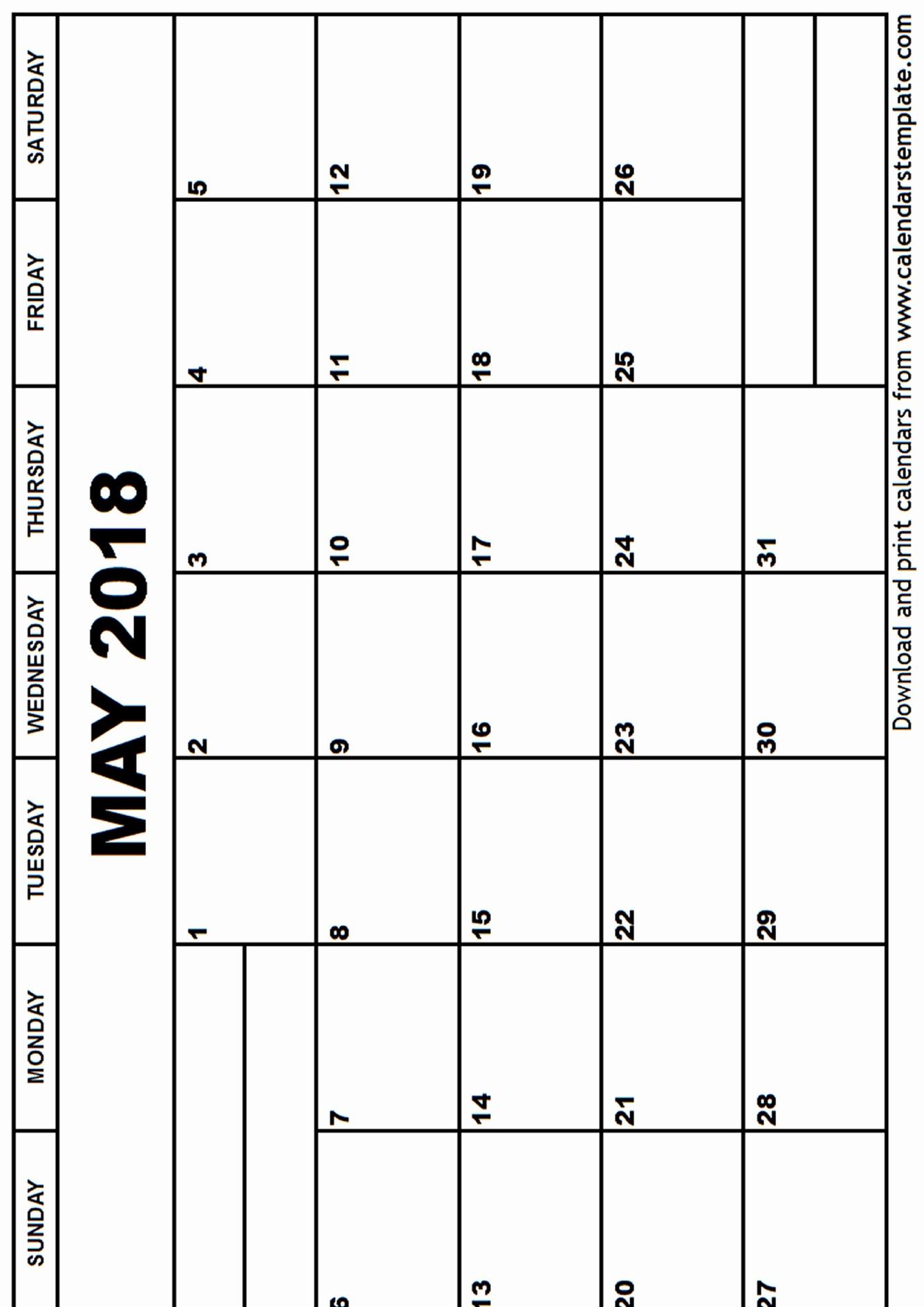 Free May 2018 Calendar Template New May 2018 Calendar Template