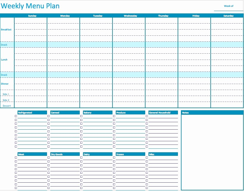 Free Meal Planner Template Download Awesome 45 Printable Weekly Meal Planner Templates