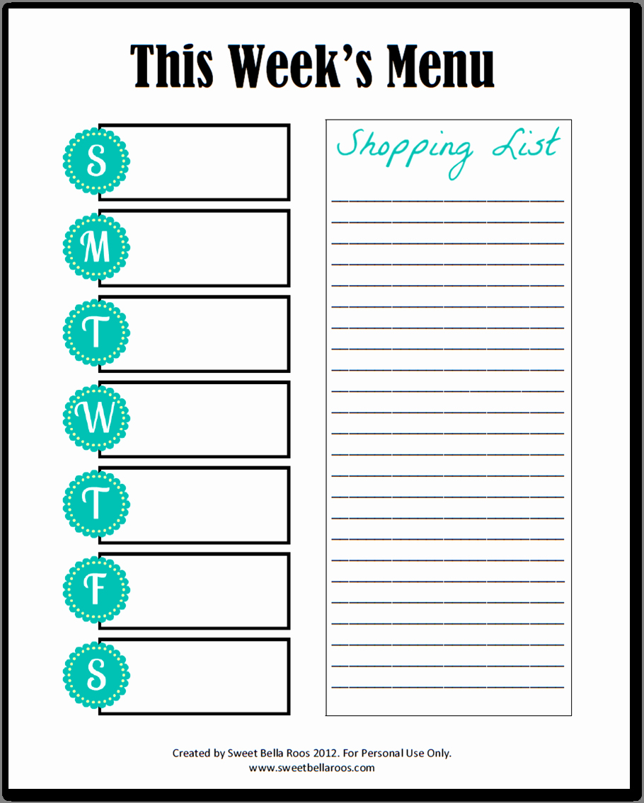 Free Meal Planner Template Download Awesome Weekly Food Menu Planner