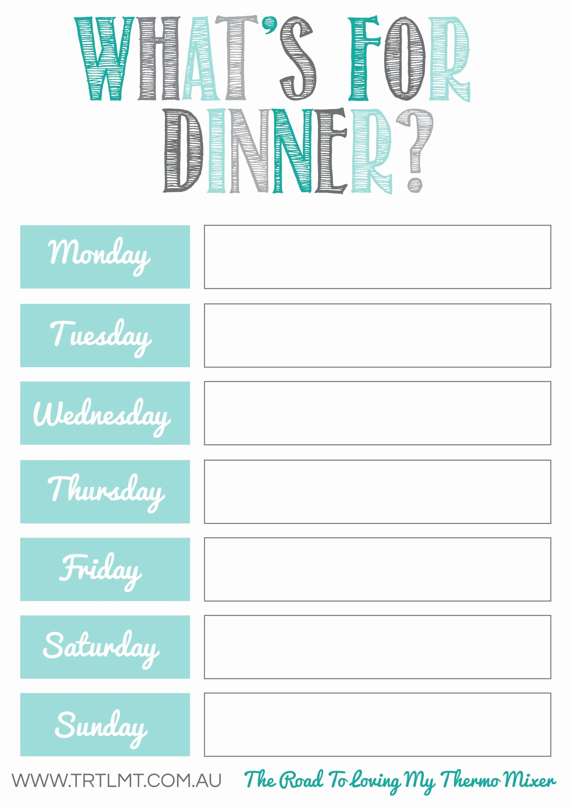 Free Meal Planner Template Download Beautiful What S for Dinner 2 Fb organization Pinterest