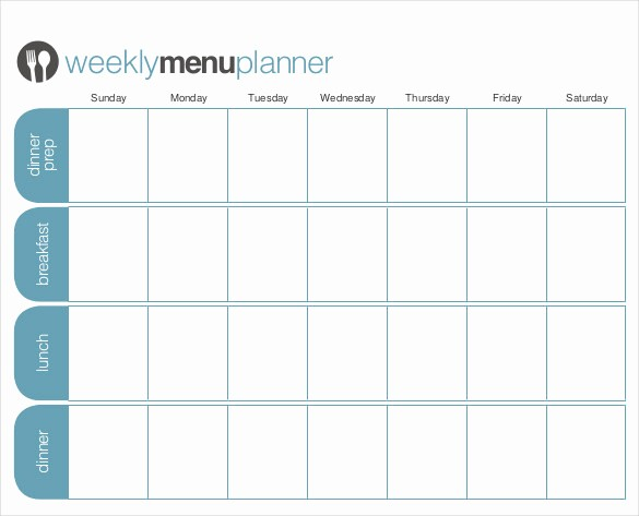 Free Meal Planner Template Download Elegant 31 Menu Planner Templates Free Sample Example format