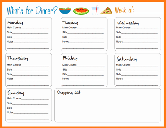 Free Meal Planner Template Download Elegant Meal Planning Templates On Pinterest