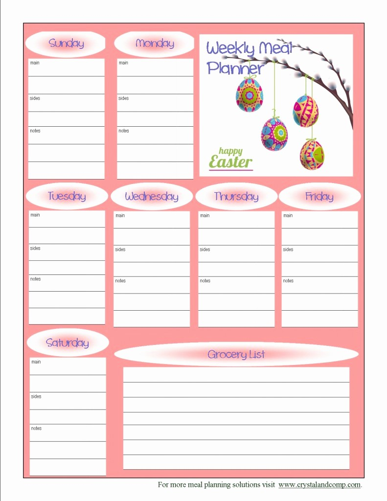 Free Meal Planner Template Download Fresh 7 Best Of Free Printable Meal Planner Template