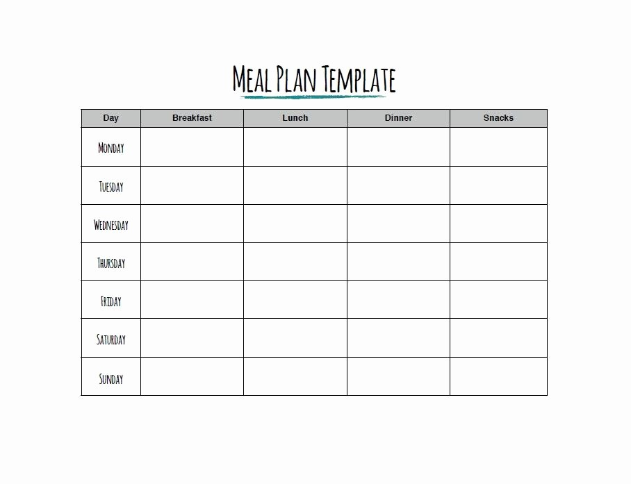 Free Meal Planner Template Download Inspirational 40 Weekly Meal Planning Templates Template Lab