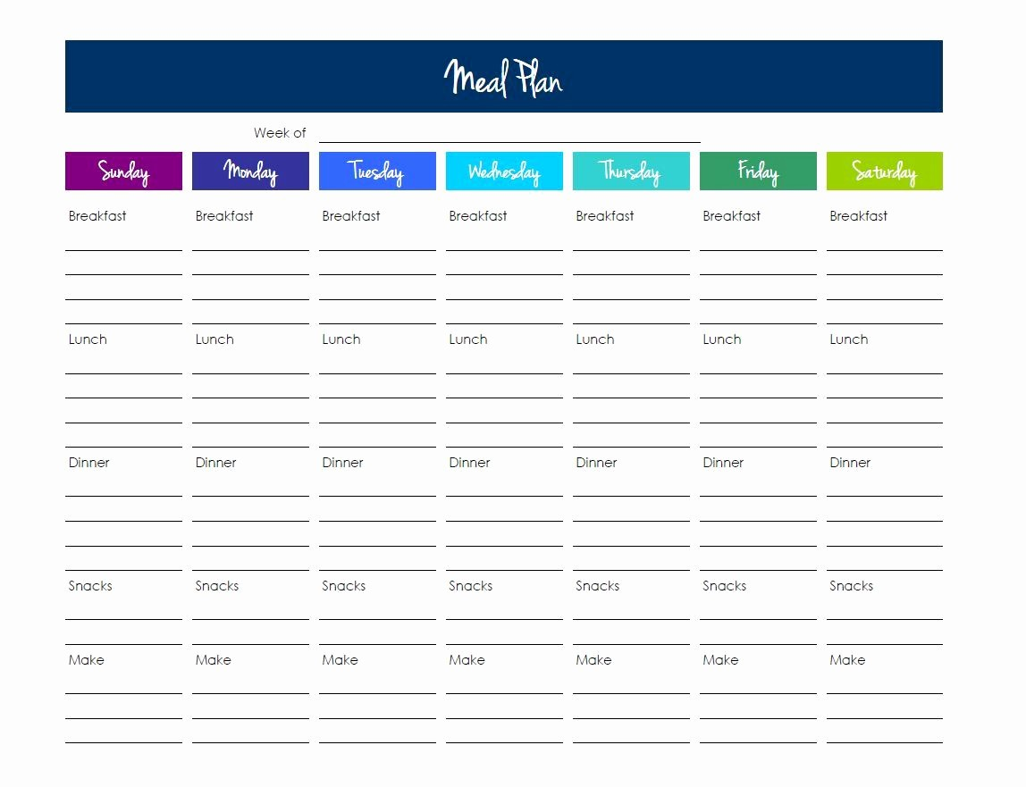 Free Meal Planner Template Download Inspirational Grocery List Template Excel