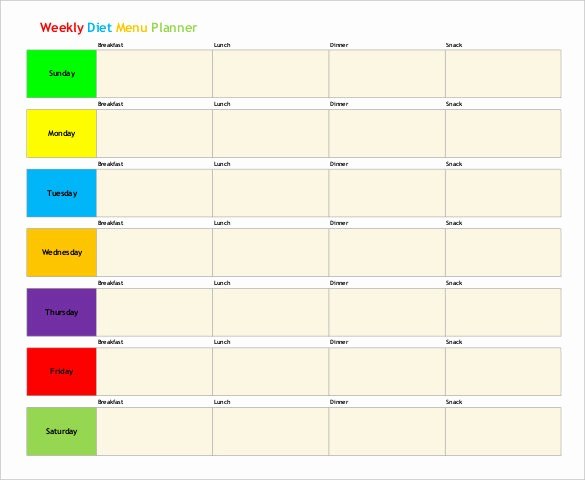 Free Meal Planner Template Download Lovely 31 Menu Planner Templates Free Sample Example format