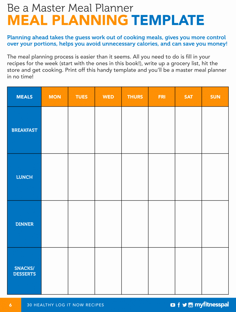 Free Meal Planner Template Download Lovely Be A Master Meal Planner with This Template