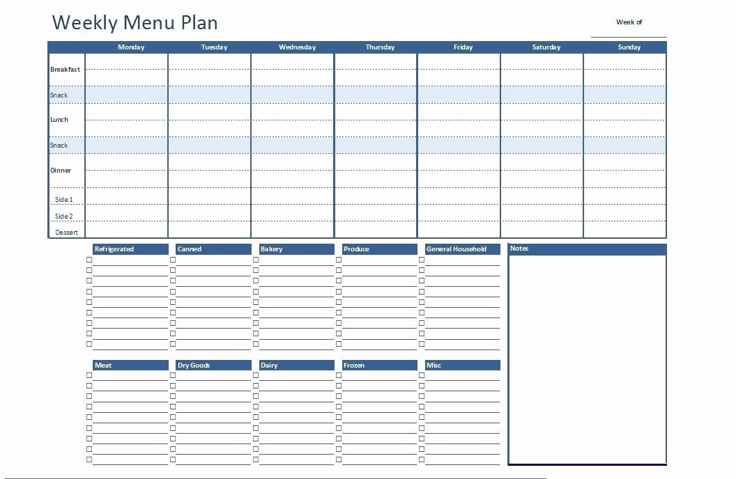 Free Meal Planner Template Download New Meal Plan Template Excel