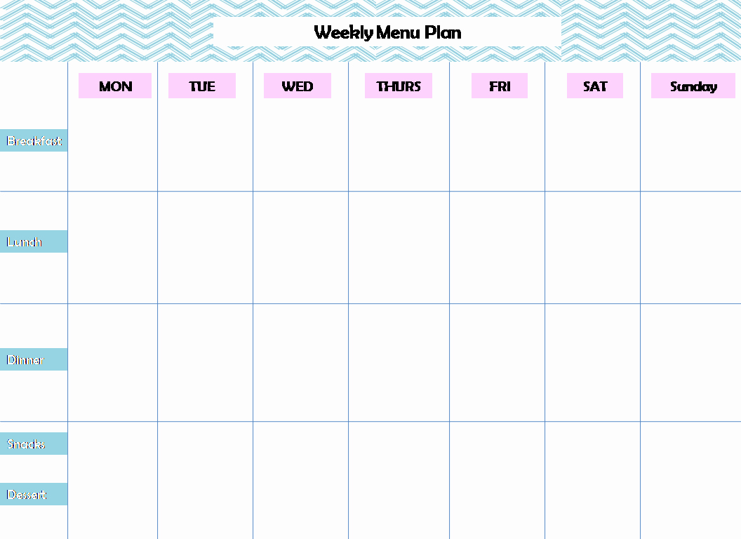 Free Meal Planner Template Download Unique 28 Useful Printable Monthly Meal Planners