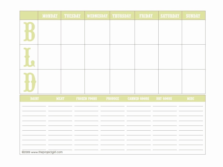 Free Meal Planner Template Download Unique 40 Weekly Meal Planning Templates Template Lab