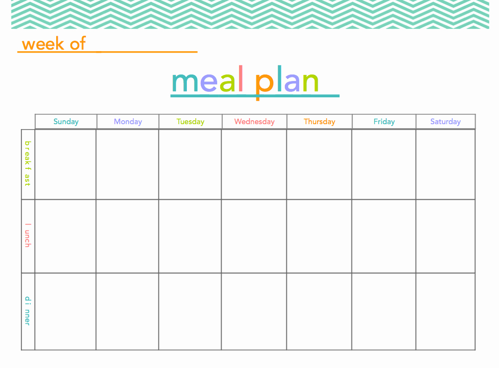 Free Meal Planner Template Download Unique 9 Best Of Printable Weekly Meal Plan Ideas Meal