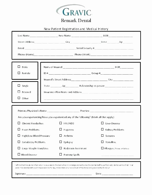 Free Medical History form Template Elegant Patient History form Template New Patient Medical History