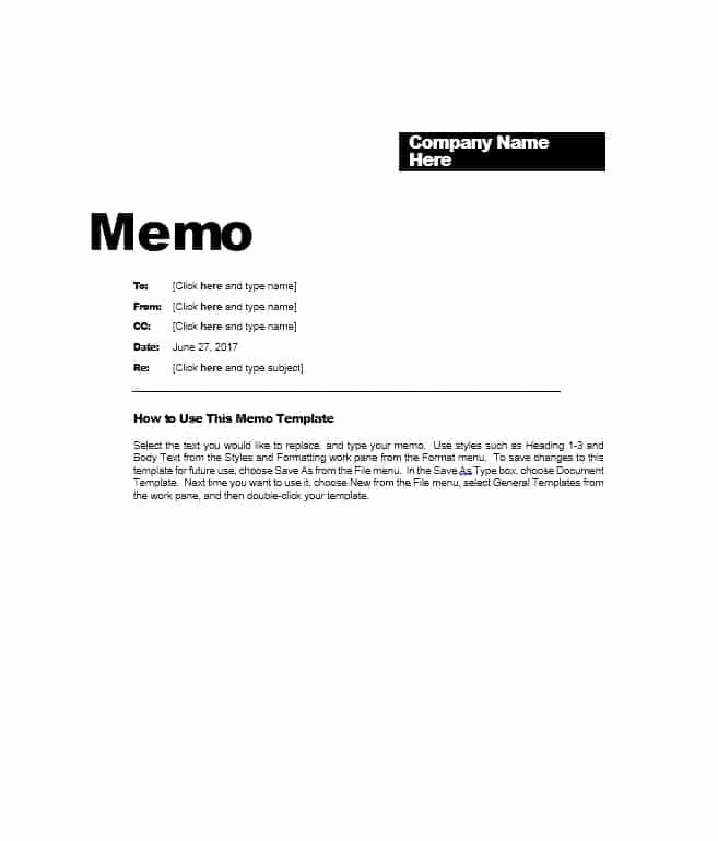 Free Memo Template for Word Awesome 15 Example Business Memorandum