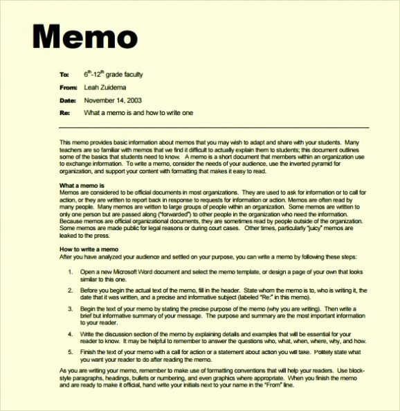 Free Memo Template for Word Best Of Free Memo Template Word Doc