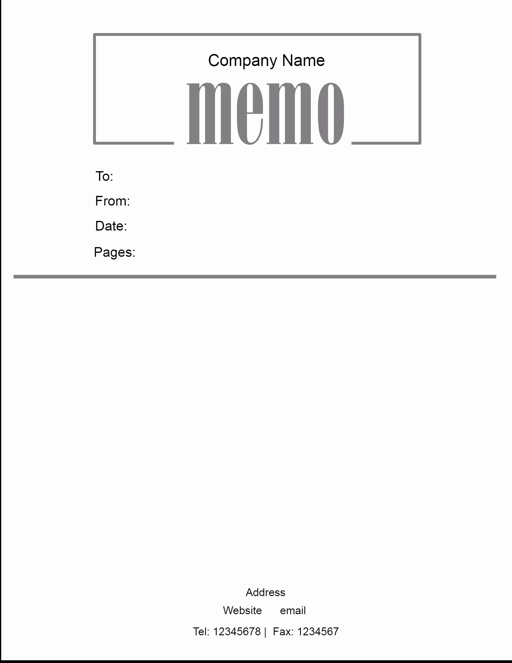 Free Memo Template for Word Best Of Free Microsoft Word Memo Template