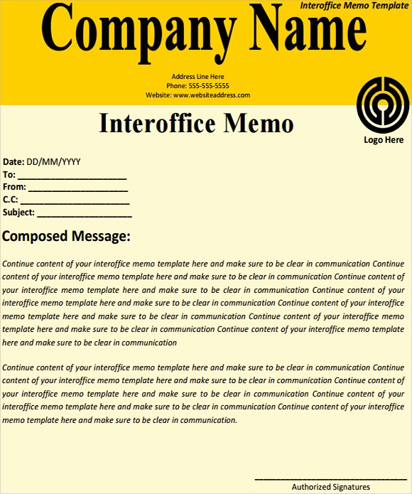 Free Memo Template for Word Best Of Interoffice Memo Templates 7 Download Free Documents In