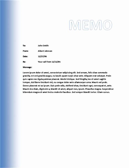 Free Memo Template for Word Elegant 10 Best Of Microsoft Business Memo Templates