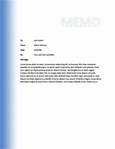 Free Memo Template for Word Elegant 10 Best Of Microsoft Business Memo Templates