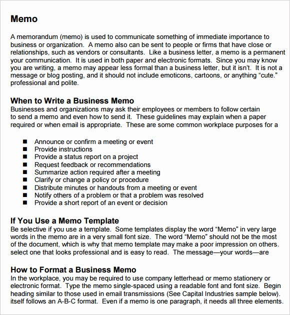 Free Memo Template for Word Fresh Free Memo Templates Word and Excel Excel Pdf formats