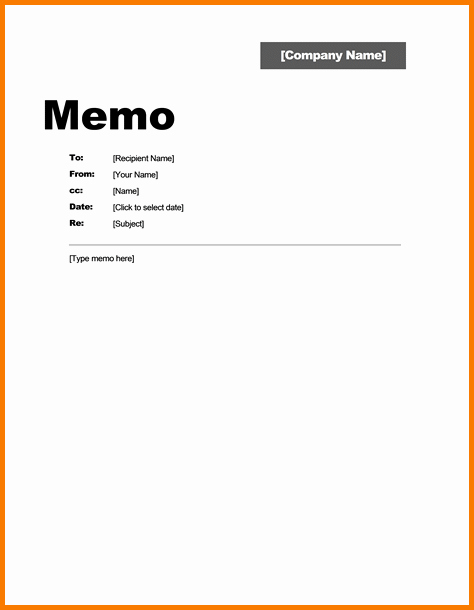 Free Memo Template for Word Inspirational 4 Interoffice Memo