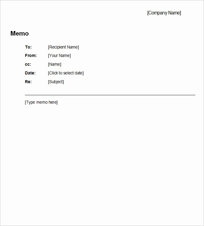 Free Memo Template for Word Inspirational Business Memo Template 8 Free Word Pdf Documents