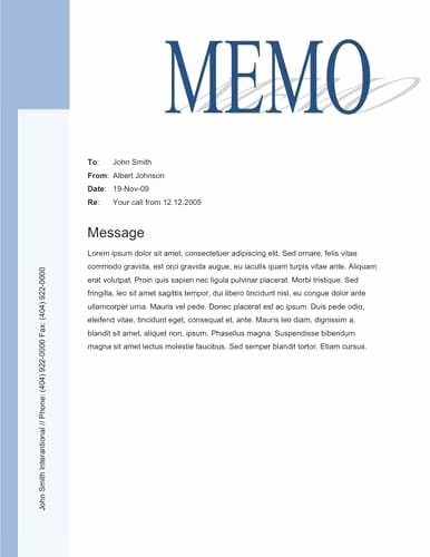 Free Memo Template for Word Lovely 9 Memo Templates Word Excel Pdf formats