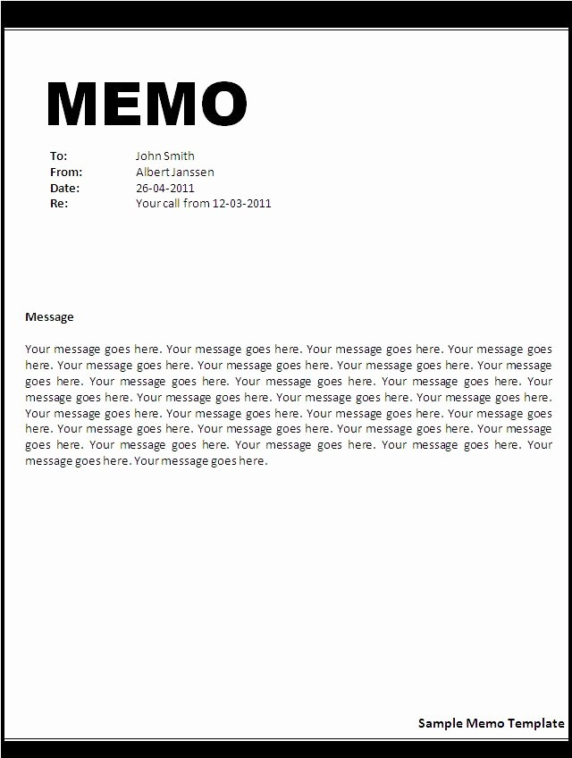 Free Memo Template for Word Unique 8 Best Of Printable Memo Templates Business Memo