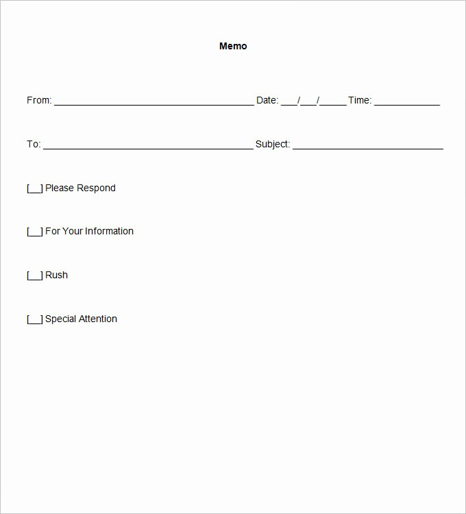 Free Memo Template for Word Unique Blank Memo Template 18 Free Word Pdf Documents Download