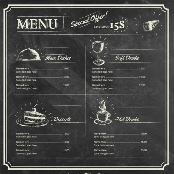 Free Menu Template Download Word Beautiful 25 Chalkboard Menu Templates Free Word Menu Card Designs