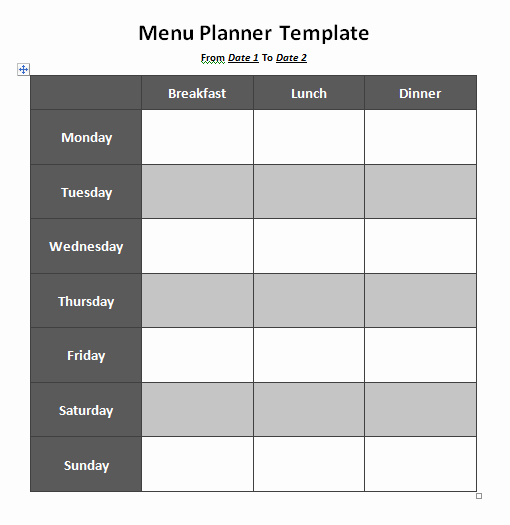 Free Menu Template Download Word Beautiful Menu Planner Template 8 Free Printable Templates Word