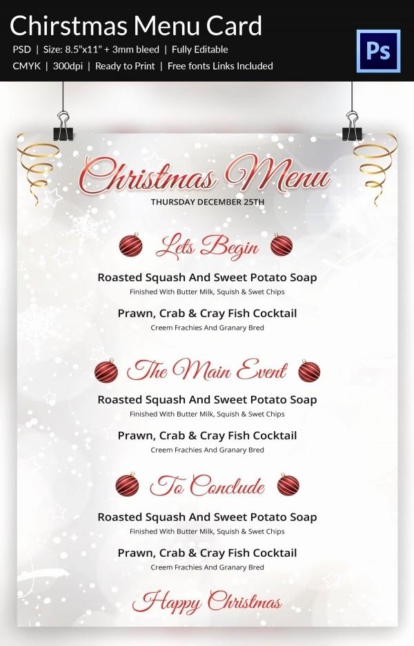Free Menu Template Download Word Best Of Christmas Menu Template 37 Free Psd Eps Ai