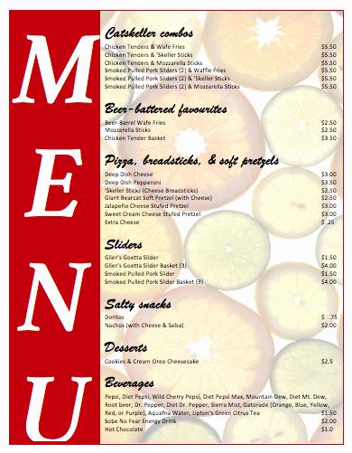 Free Menu Template Download Word Fresh All Purpose Food Menu Template Microsoft Word Templates