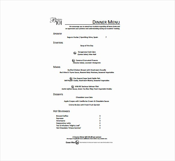 Free Menu Template Download Word Lovely 24 Free Menu Templates Pdf Doc Excel Psd